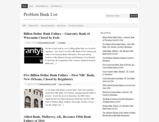 problembanklist.com screenshot
