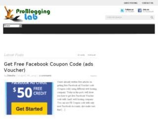problogginglab.com screenshot