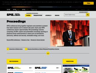 proceedings.spiedigitallibrary.org screenshot