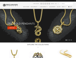 proclamationjewelry.com screenshot