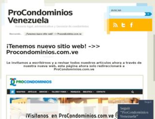 procondominiosvenezuela.wordpress.com screenshot