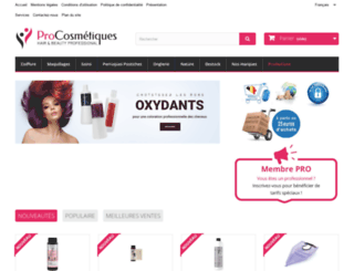procosmetiques.be screenshot