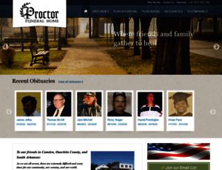 proctorfuneralhome.com screenshot