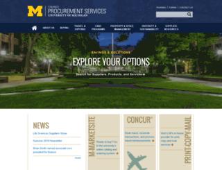 procurement.umich.edu screenshot