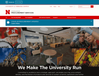 procurement.unl.edu screenshot
