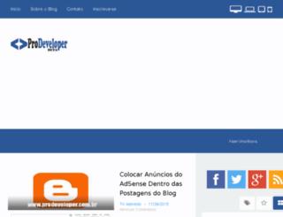 prodeveloper.com.br screenshot