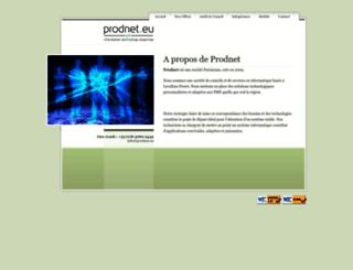 prodnet.eu screenshot