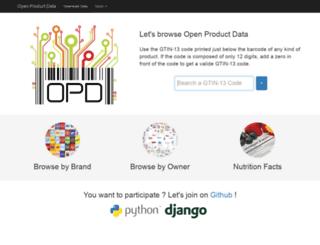 product-open-data.com screenshot