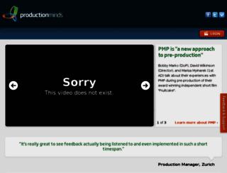 productionminds.com screenshot