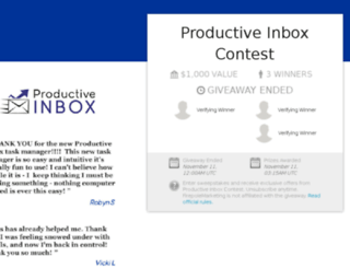 productiveinboxcontest.com screenshot