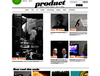 productmagazine.co.uk screenshot