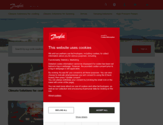 products.danfoss.in screenshot