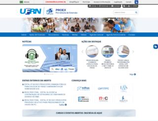 proex.ufrn.br screenshot