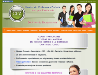 profesoreszabala.com.ar screenshot