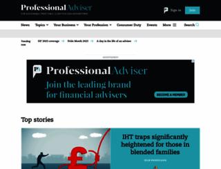 professionaladviser.com screenshot