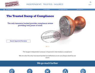 professionalpassport.com screenshot