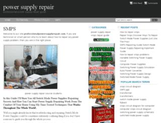 professionalpowersupplyrepair.com screenshot