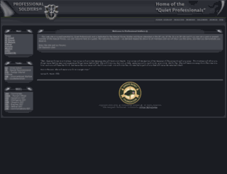 professionalsoldiers.com screenshot