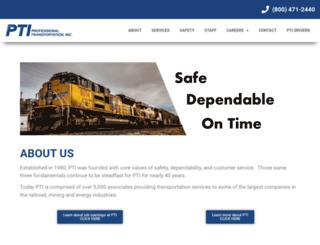 professionaltransportationinc.com screenshot