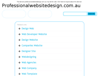 professionalwebsitedesign.com.au screenshot