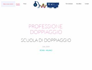 professionedoppiaggio.com screenshot