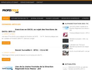 profestique.net screenshot
