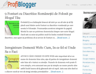 profiblogger.ro screenshot