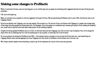 profilactic.com screenshot