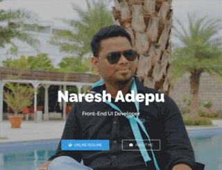 profile.nareshadepu.com screenshot