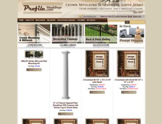profilemouldings.com screenshot