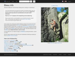 profiles.bleau.info screenshot