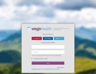 profiles.wegohealth.com screenshot