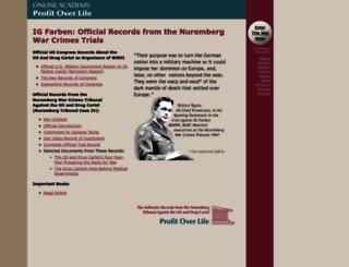 profit-over-life.org screenshot