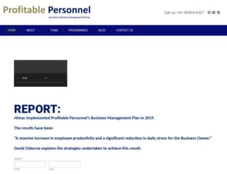 profitablepersonnel.com screenshot