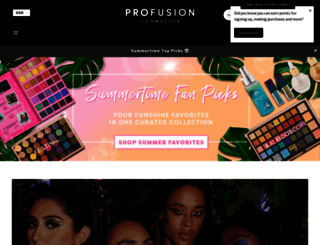 profusioncosmetics.com screenshot