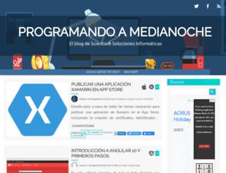 programandoamedianoche.com screenshot