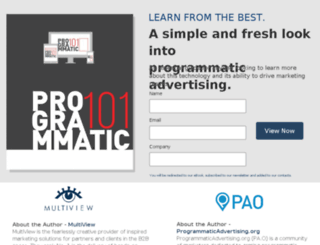 programmaticadvertising101-multiview.instapage.com screenshot