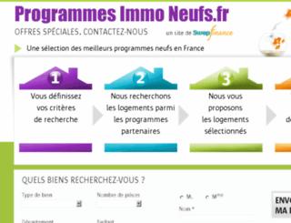 programmesimmoneufs.com screenshot