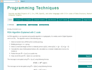 programming-technique.blogspot.com screenshot