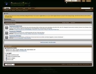 progressiveears.org screenshot