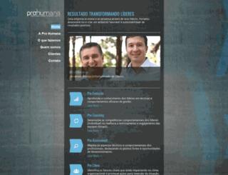 prohumana.com.br screenshot