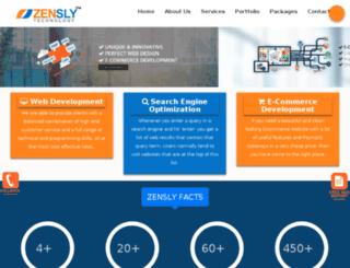 project.zensly.com screenshot