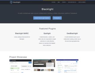 projectblacklight.org screenshot
