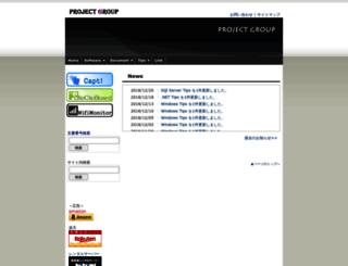 projectgroup.info screenshot