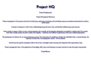 projecthq.com screenshot