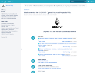 projects.genivi.org screenshot