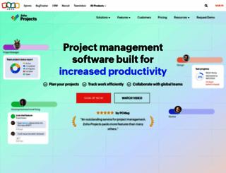 projects.zoho.com screenshot