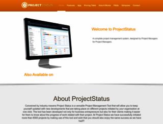 projectstatus.co.uk screenshot