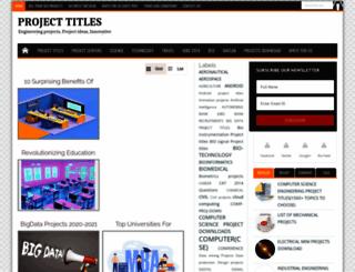 projecttitles4free.com screenshot