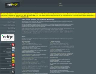 projecttracker.riaforge.org screenshot